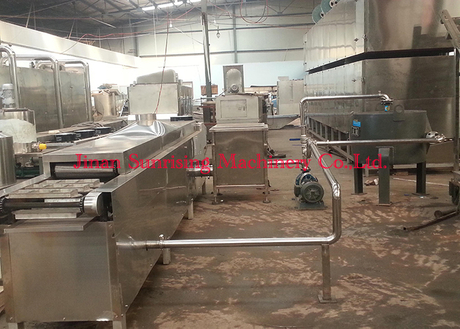 fried instant noodle line with capacity 11000 pcs per shift
